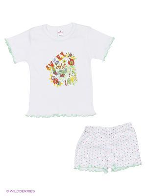 Пижама для девочки, Квирит. Цвет: белый