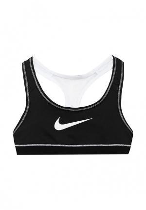 Топ спортивный Nike. Цвет: черно-белый