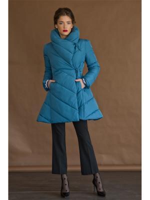Пальто Tsurpal. Цвет: голубой