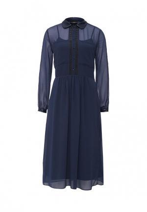 Платье Atos Lombardini. Цвет: синий