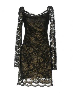 Короткое платье OLVI'S. Цвет: бронзовый