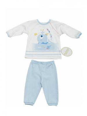 Костюм для малышей WO&GO. Цвет: белый, светло-голубой