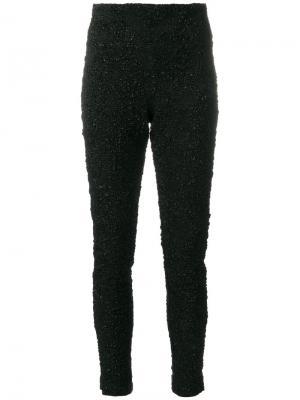 Прямые брюки узкого кроя Oscar de la Renta. Цвет: чёрный