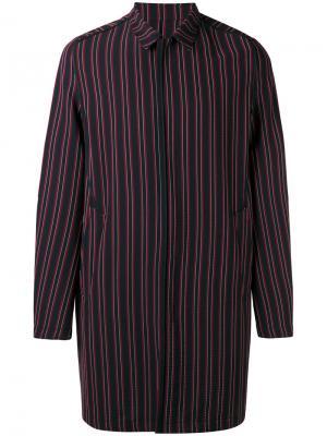 Полосатое пальто Wooyoungmi. Цвет: красный