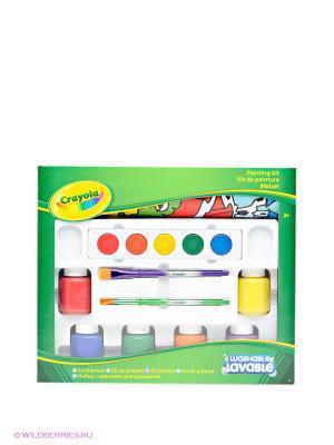 Набор красок для рисования Crayola. Цвет: красный, синий, зеленый