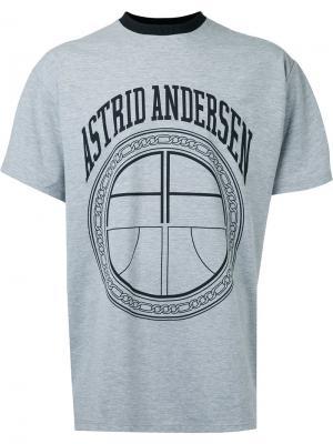 Футболка с логотипом Astrid Andersen. Цвет: серый