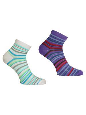 Носки 2 пары Master Socks. Цвет: белый, фиолетовый