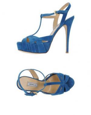 Сандалии SEMILLA. Цвет: синий