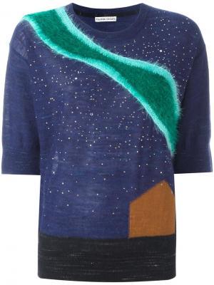 Джемпер с контрастными полосками Tsumori Chisato. Цвет: синий