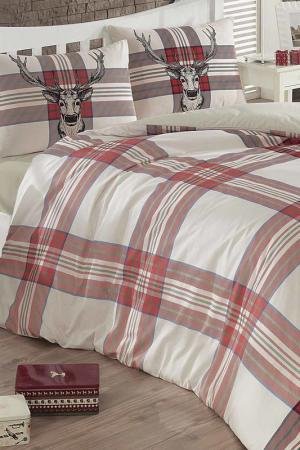 Double Duvet Cover Set COLORS OF FASHION. Цвет: cream, red, beige