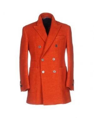 Пальто JOHN SHEEP. Цвет: ржаво-коричневый