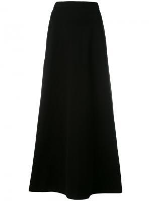 Длинная юбка А-образного силуэта Krizia Vintage. Цвет: чёрный
