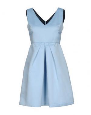 Короткое платье ONE. Цвет: небесно-голубой