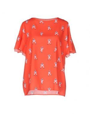 Блузка NINEMINUTES. Цвет: оранжевый