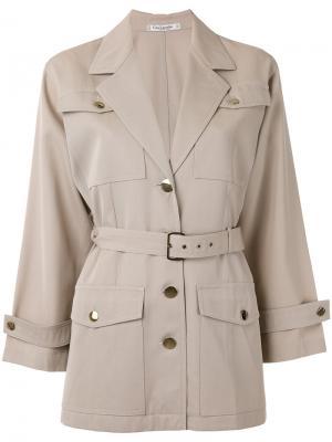 Пиджак под пояс Guy Laroche Vintage. Цвет: телесный