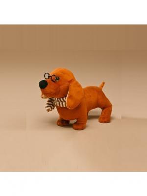 Мягкая игрушка Такса, Malvina. Цвет: коричневый