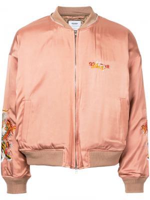 Embroidered bomber jacket Doublet. Цвет: розовый и фиолетовый