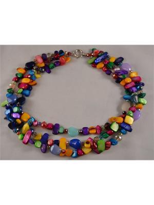 Бусы Miss Bijou. Цвет: бордовый, голубой, сиреневый, малиновый, фиолетовый, красный, фуксия, оранжевый, розовый, желтый, синий, зеленый, салатовый