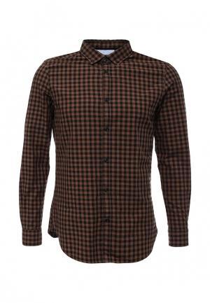 Рубашка Warren Webber. Цвет: коричневый