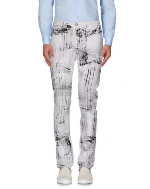 Повседневные брюки YOON. Цвет: белый