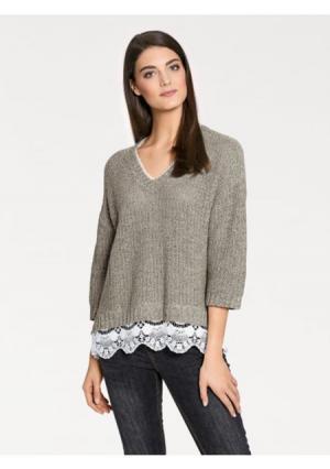 Пуловер PATRIZIA DINI by Heine. Цвет: серебристо-серый