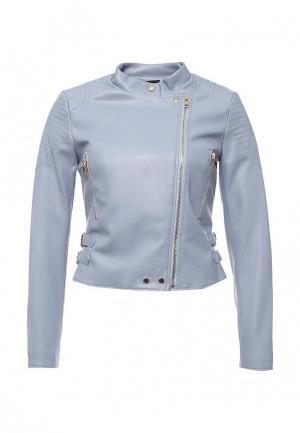 Куртка кожаная Lusio. Цвет: голубой