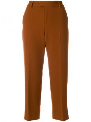 Строгие укороченные брюки Pt01. Цвет: коричневый