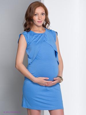 Платье Nuova Vita. Цвет: голубой