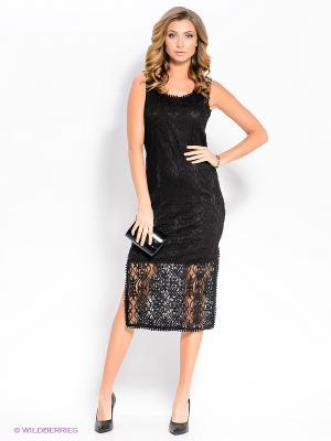 Платье Moltini. Цвет: черный