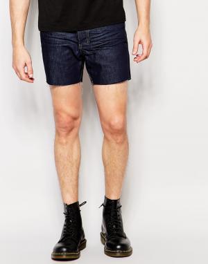 Religion Короткие джинсовые шорты. Цвет: синий