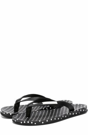 Резиновые шлепанцы с принтом Polka dot Dolce & Gabbana. Цвет: черно-белый