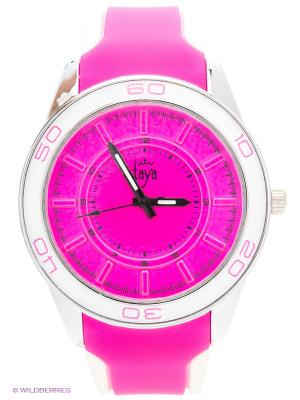 Часы Taya. Цвет: серебристый, фуксия