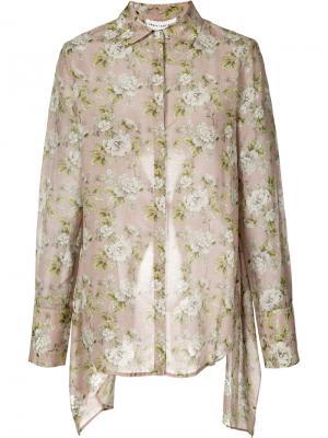 Блузка с цветочным принтом Robert Rodriguez. Цвет: розовый и фиолетовый