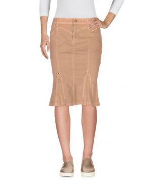 Джинсовая юбка CAPPOPERA. Цвет: песочный