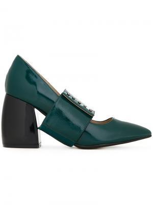 Туфли на массивных каблуках G.V.G.V.. Цвет: зелёный