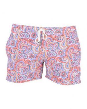Пляжные брюки и шорты LUIGI BORRELLI NAPOLI. Цвет: сиреневый