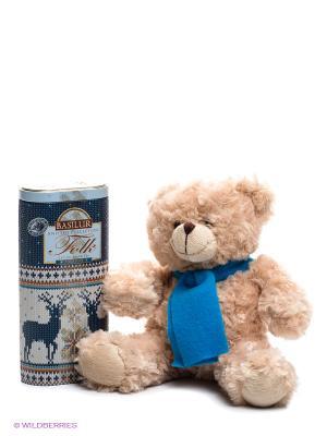 Набор Базилур ФОЛК Радость с игрушкой Basilur. Цвет: темно-синий, светло-серый, бежевый