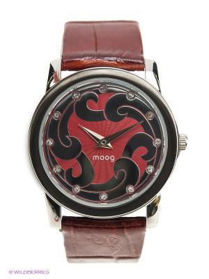 Часы MOOG. Цвет: темно-красный
