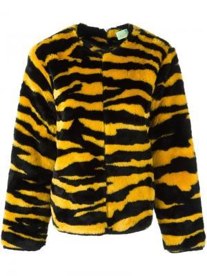 Kurt fuzzy knit jumper Aries. Цвет: жёлтый и оранжевый