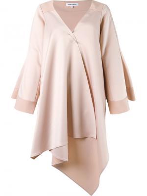 Asymmetric coat Gloria Coelho. Цвет: телесный