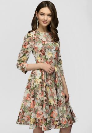 Платье 1001dress. Цвет: бежевый