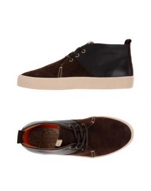 Высокие кеды и кроссовки POINTER. Цвет: темно-коричневый