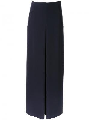 Широкие брюки Bianca Spender. Цвет: синий
