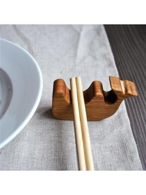 Набор подставок под палочки/столовые приборы Киты, 2 шт На дубе том. Цвет: коричневый