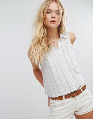 Hollister Классическая укороченная рубашка. Цвет: белый