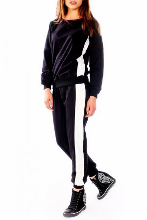 Костюм: кофта и брюки Majaly. Цвет: черный, белый