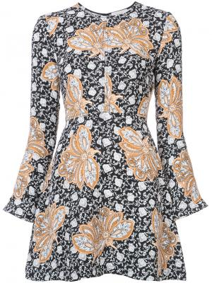 Короткое платье с принтом A.L.C.. Цвет: чёрный