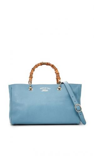 Объемная сумка-шоппер с короткими ручками Gucci Bamboo (бывшая в употреблении) What Goes Around Comes