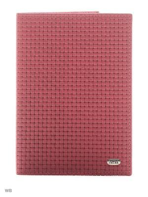 Обложка на паспорт Petek. Цвет: серый, серебристый, фуксия