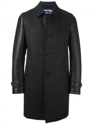 Пальто с контрастными рукавами Junya Watanabe Comme Des Garçons Man. Цвет: чёрный